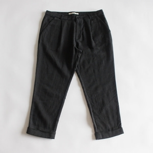 evam eva wool linen turn back pants (charcoal gray)