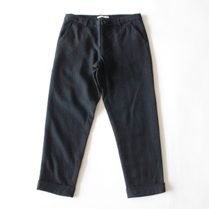 evam eva wool turn back pants (navy)