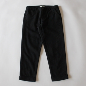 evam eva wool turn back pants (charcoal)