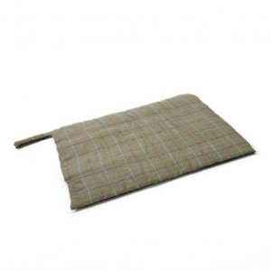 Tweed Travel Dog Bed / Olive