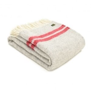 Grey & Red Throw