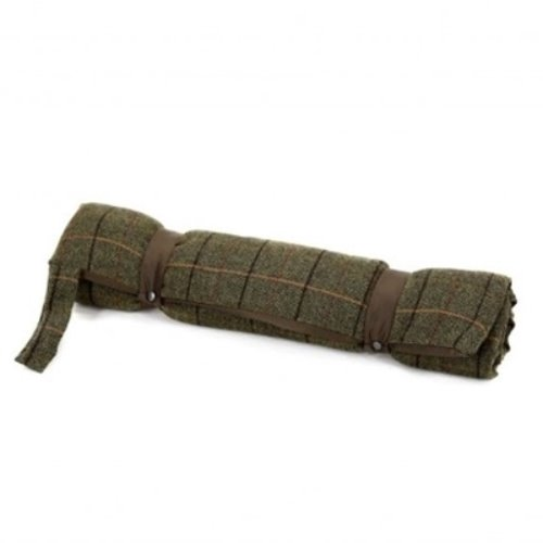 Tweed Travel Dog Bed / Brown